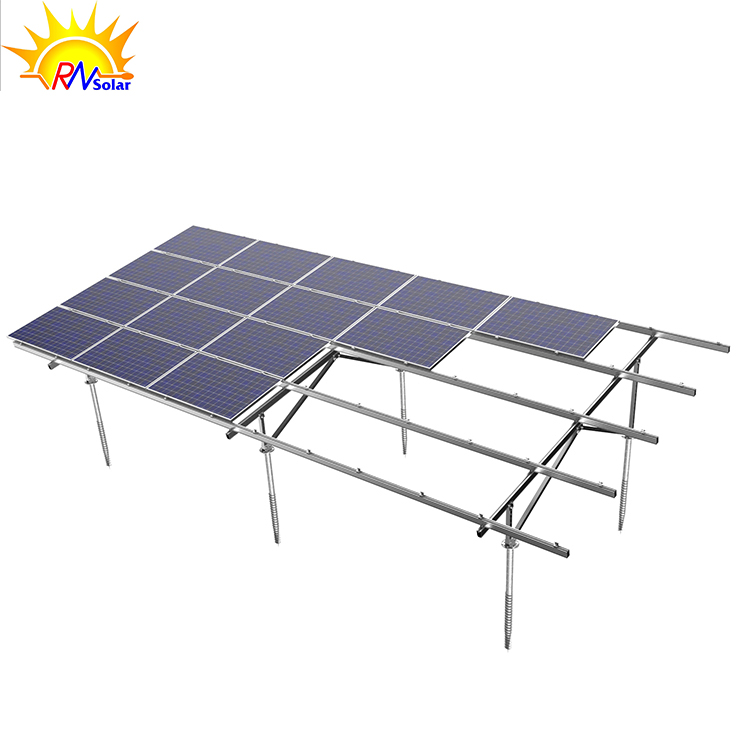 Aluminum Customized Economic Solar Panel Ground Mounting System Easy & Quick Installation