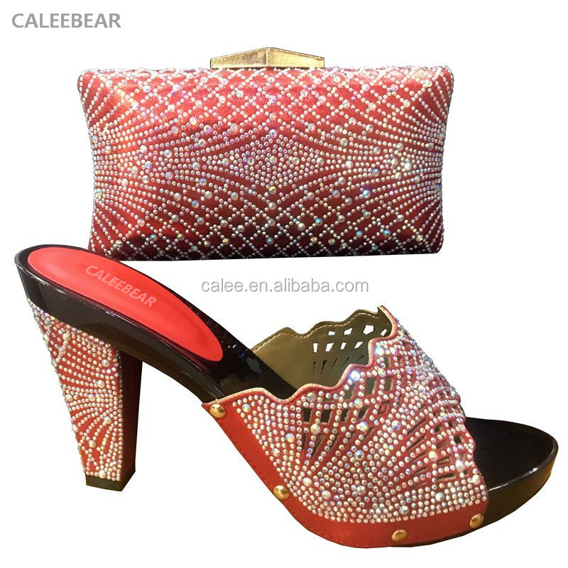 Elegant Design Ladies Shoes Italian High Heel Shoe And Bag Set African Shoes To Match Bags