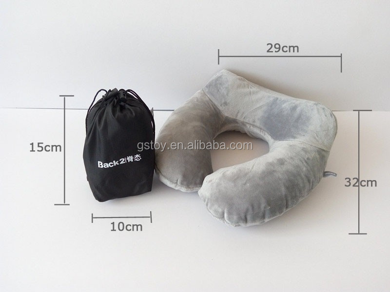 traveling plane head rest cushion inflatable neck pillow
