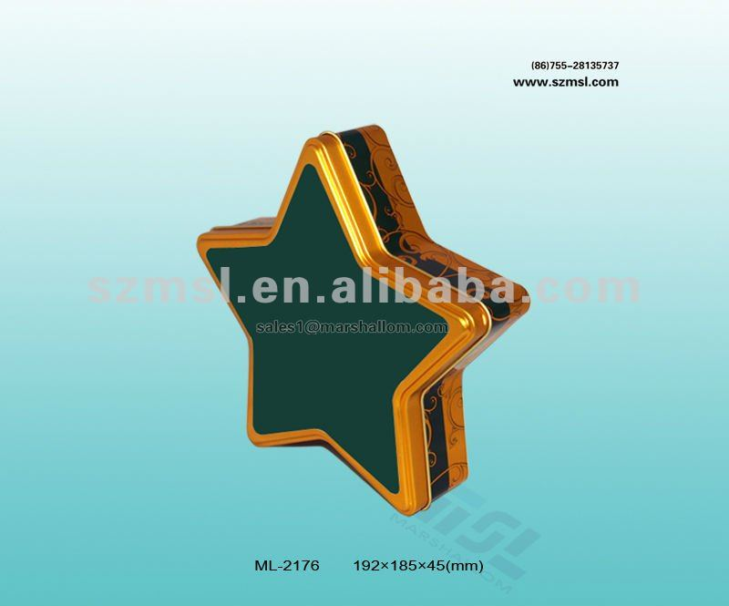 Popular Five-star shaped container for promotion gift