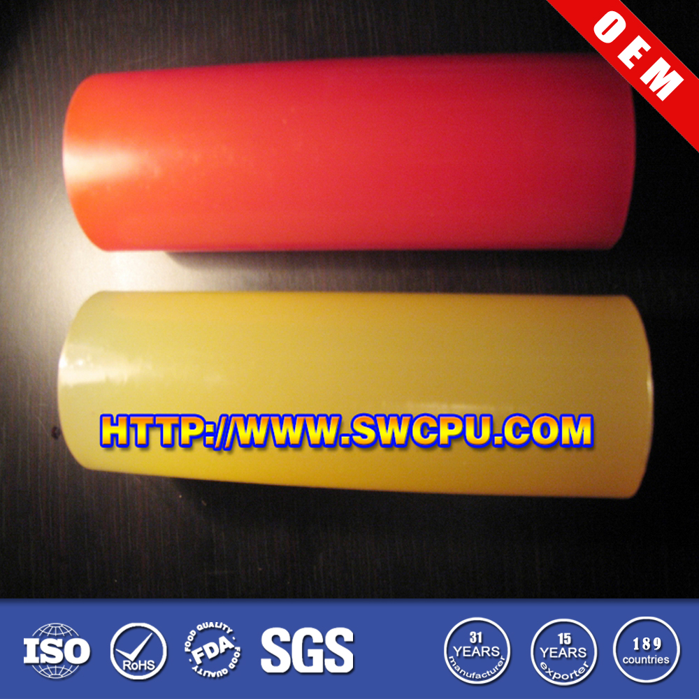Colorful solid plastic bar and rod