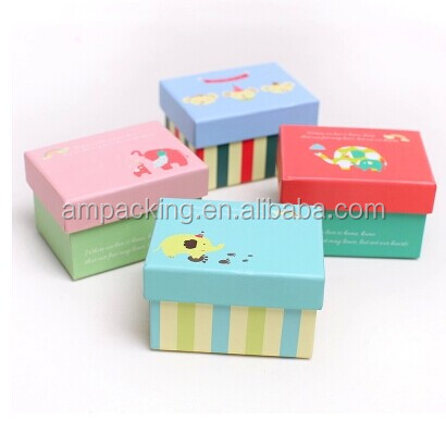 wholesale handmade with top opening lid printed set up rigid box