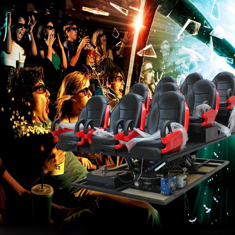 Interactive attractions full motion chair 7d hologram technology with full effects for amusement park