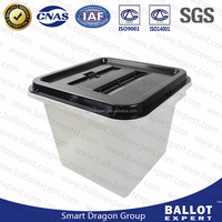 wholesale plastic transparent organizer box election ballot box