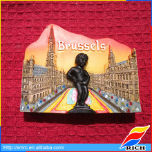 Creative souvenir resin cheap fridge magnet with Brussels Manneken Pis