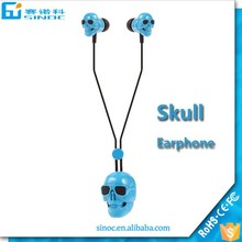 New design high quality cute skull bluetooth earphone hindi mp3 song download