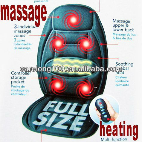 Car/Home Massage Seat Pad Dual-use back heating + Five massager