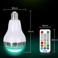 2 In 1 Portable Wireless Music Bulb Smart RGB Led Lamp Speaker