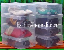 Fashion plastic box shoes storage box for baby