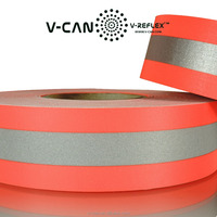 OEM Customized Fluorescent Two Tone FR Reflective Tape, Industrial Using Workwear Reflective Fabric Material,RT-FRHW506030-CTN2