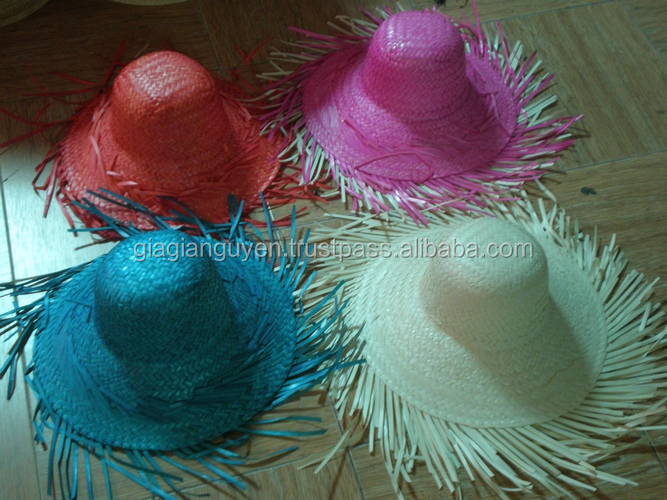 HIGH QUALITY PALM LEAF STRAW HAT/seagrass hat/STRAW HAT Made In Vietnam_CHEAP PRICE: candy@gianguyencraft.com