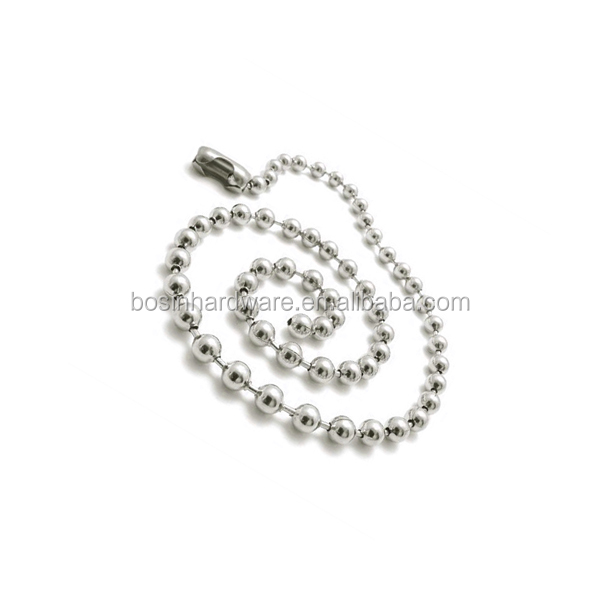 Manufacture High Quality Metal Steel Ball Chain In Jewelry Findings