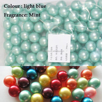 Wholesale 3.9g Green Pearl Round-shaped Bath Oil Bath Beads Mint Fragrance Bath Pearls 100pcs/lot