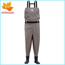 3 Layer Breathable Chest Wader Suits Customized Fishing Waders Outdoor Hunting Accessories with Heavy Robber Boots