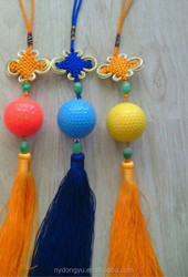 High quality Chinese knot golf ball /unique gift golf ball/stunning golf gift practice ball