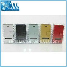 book style leather case for iphone 4