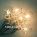 clear super bright decoration led globe string light