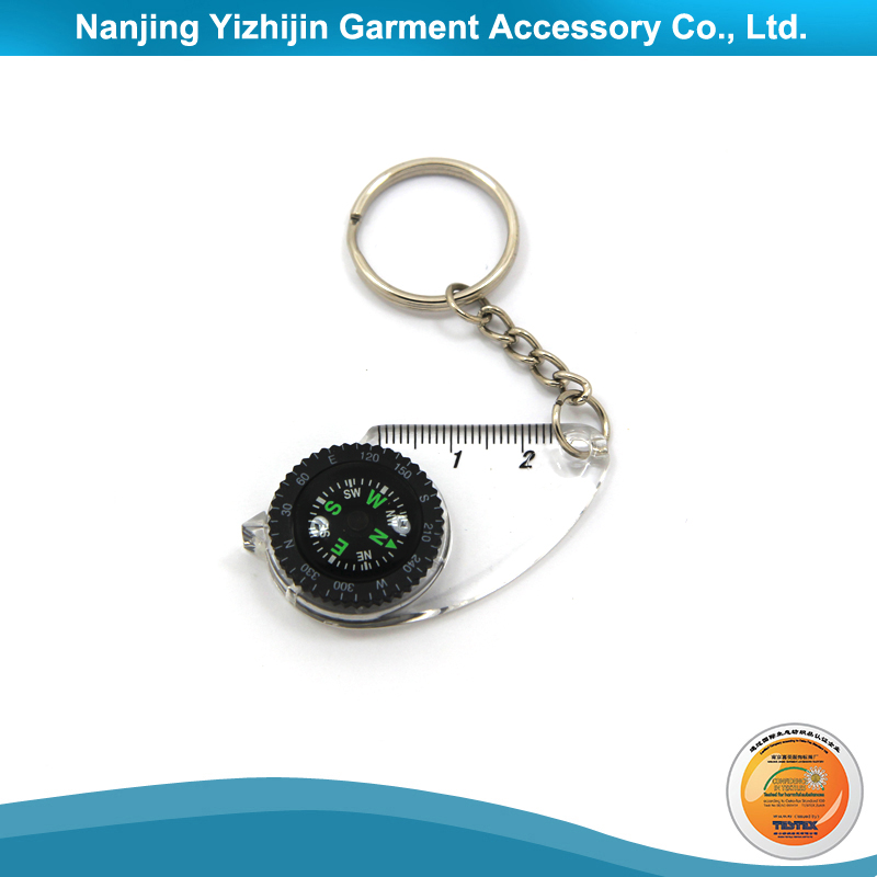 Fashion Design Compass Keyring for Wholesale