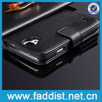 Smart phone wallet cover for s4 samsung i9500 case