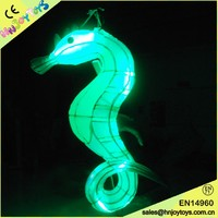 commercial christmas decorations inflatable,waterproof oxford cloth sea horse led light