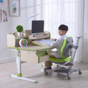 Ergonomic adjustable height children desk and chair gmyd 120-6
