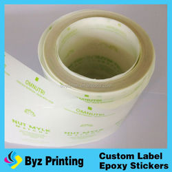 Customized high quality cheap clear waterproof cosmetic label, plastic bottle label