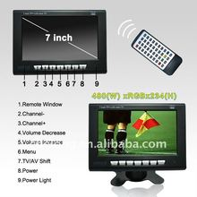 7 inch car tv monitor with usb in touch screen monitor