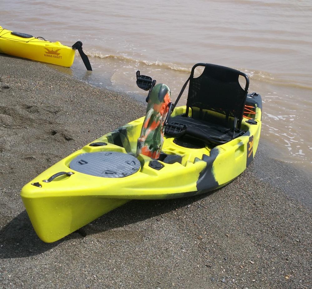 Pedal drive kayak plastic fishing kayak with drive system for Pedal drive fishing kayak