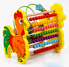 children toys new 2017 style educational wooden toy Rooster style 7 files abacus with around the bead toys