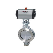 D672 1200mm pneumatic actuator wafer butterfly valve