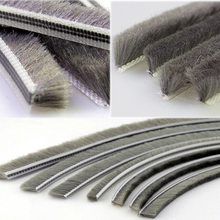 Building materials door hardware silicone wool pile / weather strip/brush sealing strip