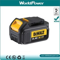 WorldPower Dewalt cordless drill replacement battery 14.4v 3Ah rechargeable Li-ion battery packs for Dewalt power tools