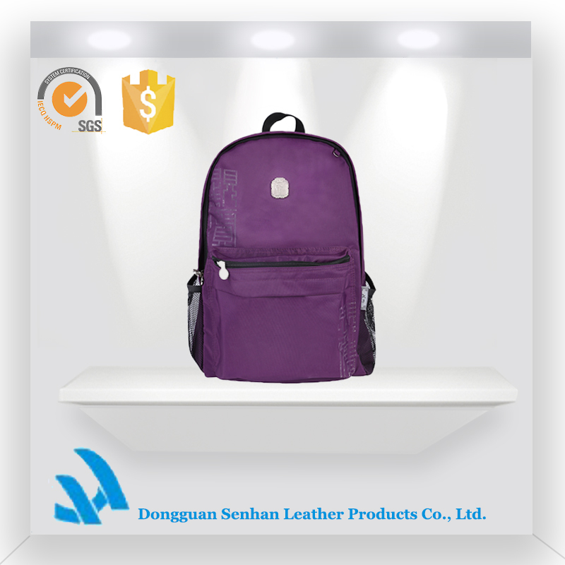 fashion laptop sport traveling climbing dark purple backpack bag