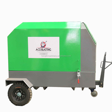 Portable air compressor for dustless blasting machine