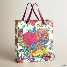 Wedding Peony paper bag paper carrier bag