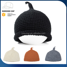 Welcome custom patch solid color plain cute girl winter knitted beanies hat knitting pattern for wholesale