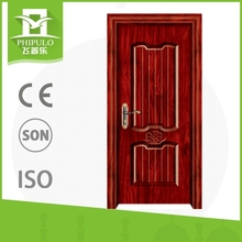 China made home colour design Easy to install steel interior wood door for sale