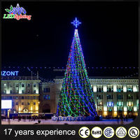 2016 Showy xmas tree led christmas tree with topper star