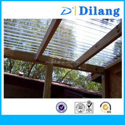 Dilang high quality translucent polycarbonate corrugated sheet/ roofing sheet/ corrugated plastic sheet