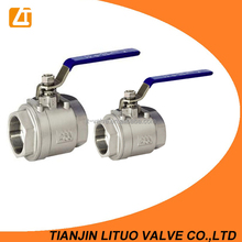 2 inch stainless steel ball valve,threaded 2pc ball valve pn16 dn50 for water oil and gas
