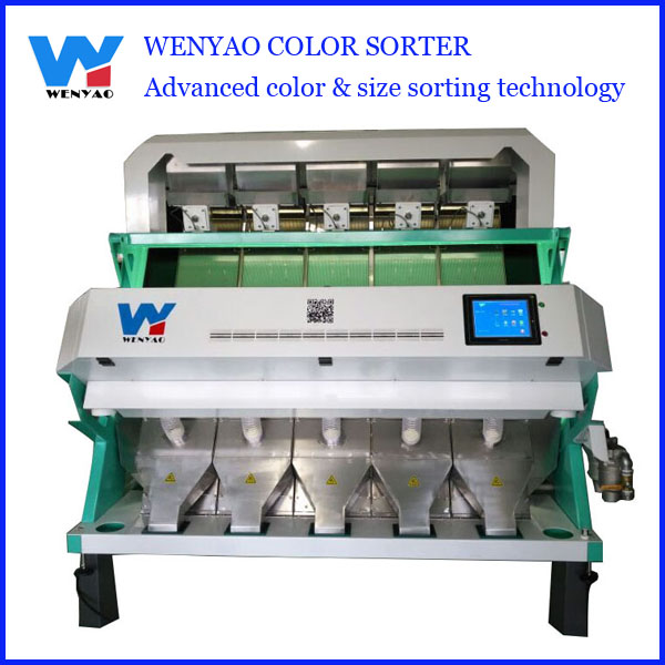 5 chutes cashew nut processing machine/color sorting machine