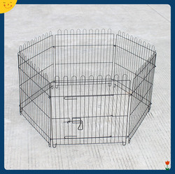 "25"" Tall Foldable Dog Playpen Crate Fence Pet Cat Play Pen Exercise Cage 6 Panel"