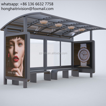 Street Furniture! Prefab Bus Shelter with Advertising Panels