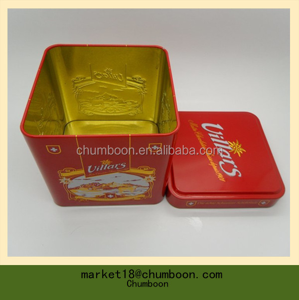 tea tin box stackable tin box package