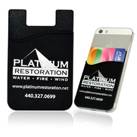 novelty mobile phone silicon 3m card pocket