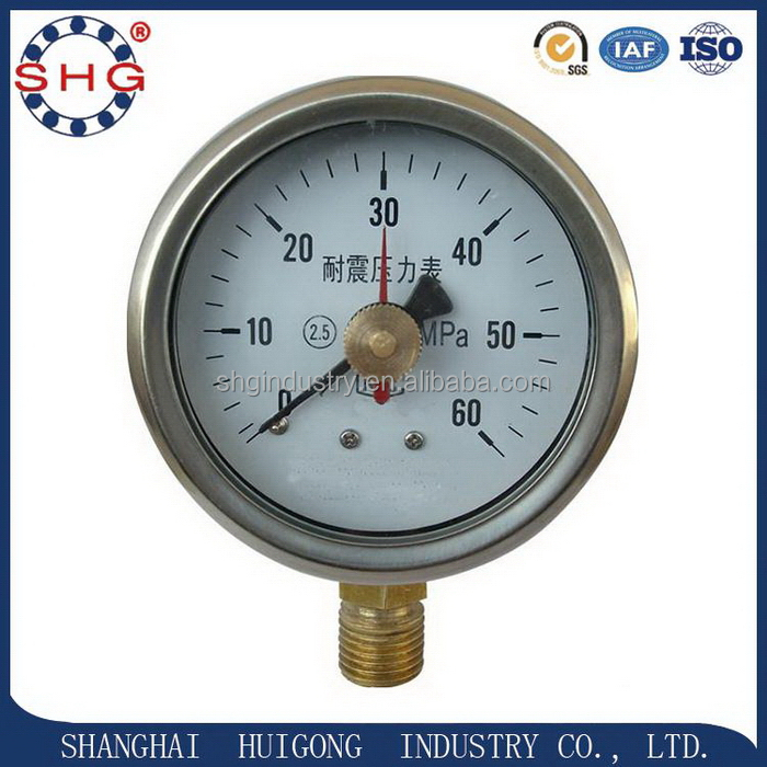 Wholesale high grade vacuum bourbon tube pressure gauge