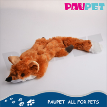 All-season performance fashion plush fox non stuffing pet toy