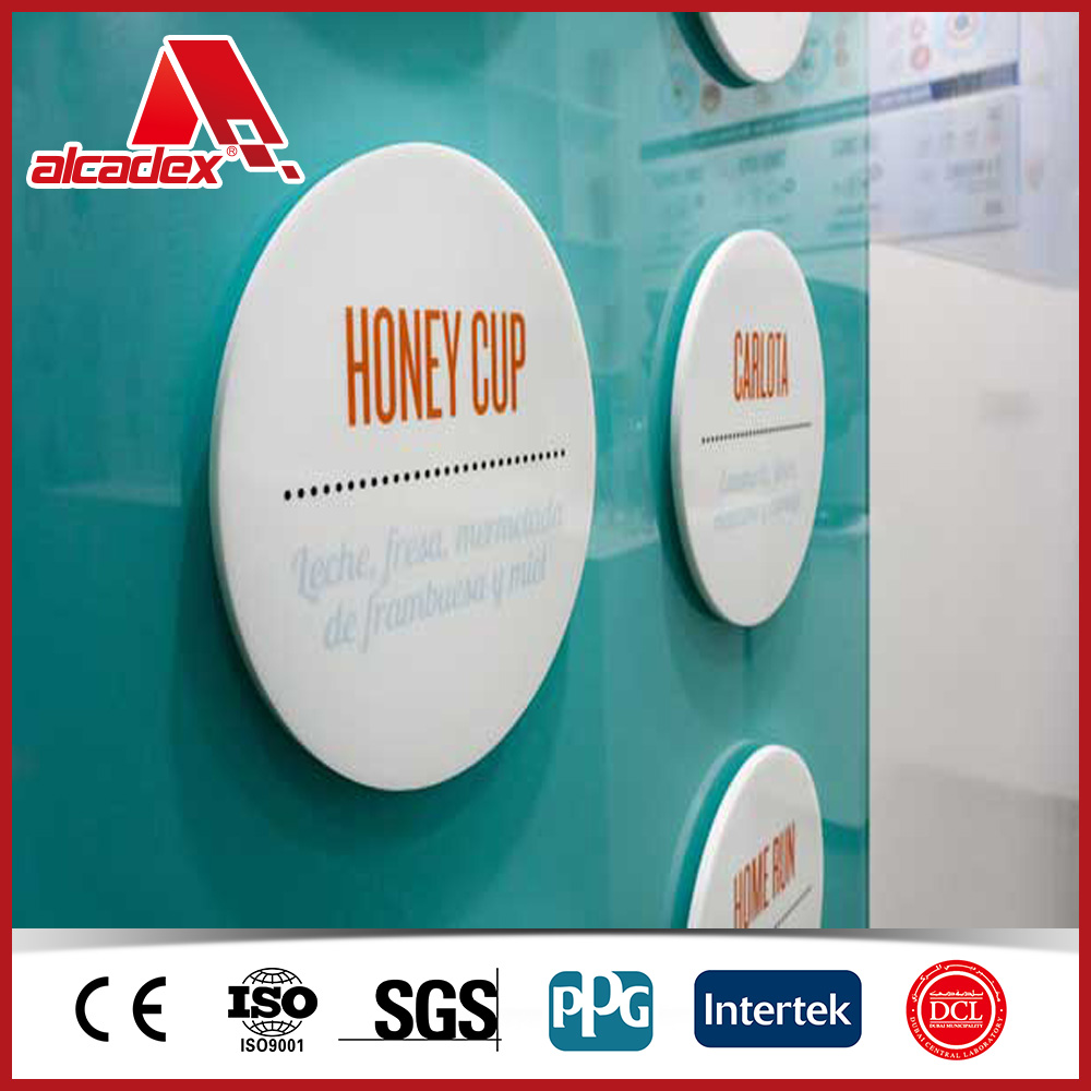 Office slogan decoration material aluminium composite panel