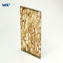 Hot popular colored mesh film pvb laminated glass door panels price