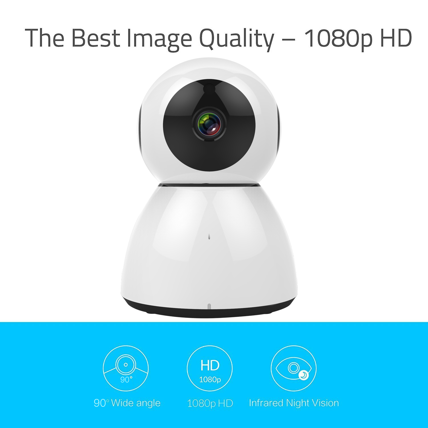 2018 1080P Smart Robot Wireless Wifi IP Camera Baby Monitor With Low Cost